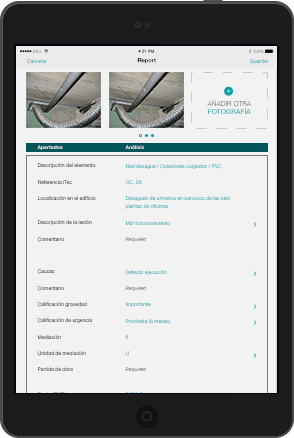 Real estate agencies, state agencies, can report all incidents of their buildings with the Incidencies App, which allows you to control and report any problems or incidents in your buildings by streamlining communication processes and saving administrative tasks