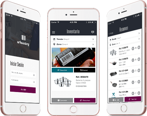 The Inventory app is the fastest and most economical way to do the stocktaking of the entire company: in shops, stores and warehouses, save time and money with this apps for companies